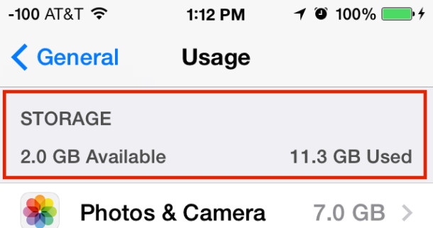 how to clear space on iphone icloud